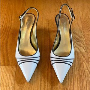 Escada Black & White Classic Heels Size 37/37.5
